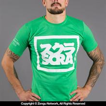 Scramble Split Logo Tee - Green